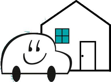 Auto koeajoon kotiovelle
